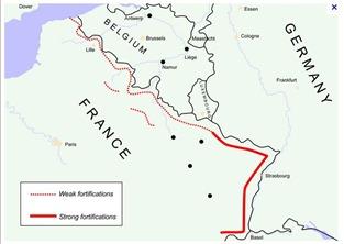 Maginot line map